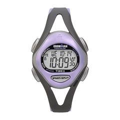 Timex® Ironman Sleek Womens Purple Resin Strap 50-Lap Watch T5E5119J