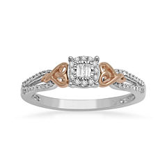 Hallmark Diamonds 1/5 CT. T.W. Diamond Heart Two-Tone Ring