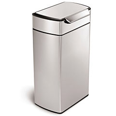 simplehuman® 40L Brushed Stainless Steel Trash Can