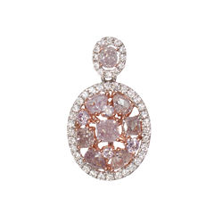 1 1/3 CT. T.W. Pink Diamond 18K Gold Pendant