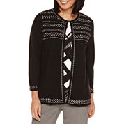 Alfred Dunner Theater District 3/4 Sleeve Cardigan