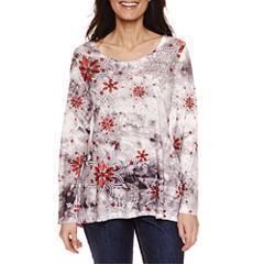 Unity World Wear Long Sleeve Scoop Neck T-Shirt-Petites