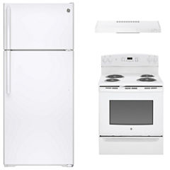 GE® 3-pc. Electric Kitchen Package- White