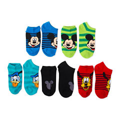 Boys 5-Pk. Mickey Mouse No Show Socks