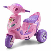 KidTrax Disney Princess 6V Twinkling Scooter Electric Ride-on