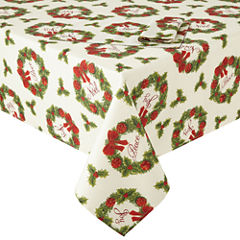 Arlee Holiday Wreath Sparkle Table Linen Collection
