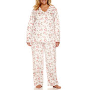 Adonna Fleece Pant Pajama Set-Plus