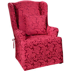 SURE FIT® Scroll 1-pc. Wing Chair Slipcover