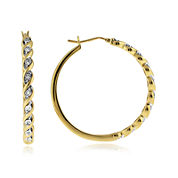 1/10 CT. T.W. Diamond Hoop Earrings