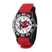 Marvel® Spiderman Boys Red Strap Watch