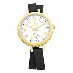 Decree Womens Black Strap Watch-Pt2519gdbk