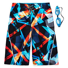 Zeroxposur Boys Kryptonite Swim Trunks-Big Kid
