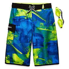 Zeroxposur Boys Geometric Swim Trunks-Big Kid