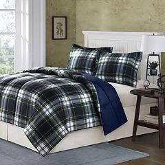 Hartford Navy Plaid Down-Alternative Comforter Set