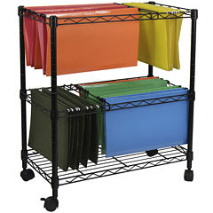 Oceanstar® 2-Tier Rolling File Cart