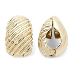 Monet® Gold-Tone Swirled Clip-On Earrings