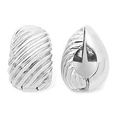 Monet® Silver-Tone Swirled Clip-On Earrings