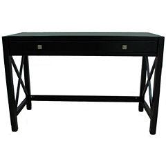 Anna Collection Desk in Antique Black