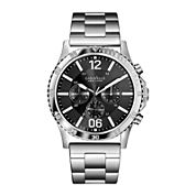 Caravelle New York® Mens Gray Dial Silver-Tone Bracelet Watch 43A115