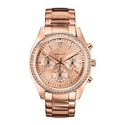 Caravelle New York® Womens Rose-Tone Bracelet Chronograph Watch 44L117