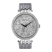 Caravelle New York® Womens White Round Dial & Silver-Tone Bracelet Watch 43L160