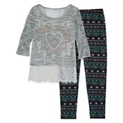 Knit Works Girls Legging Set - Girls 7-16 and Plus
