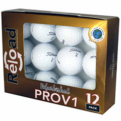 12 Pack Titleist PROV1 Refinished Golf Balls.