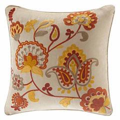 Madison Park Golden Harvest Square Throw Pillow