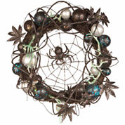 National Tree Co 18 Inch Black Spider Wreath