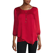 Alyx Long Sleeve Scoop Neck Blouse