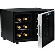 Wine Enthusiast® 12-Bottle Silent Dual Zone Touchscreen Wine Refrigerator