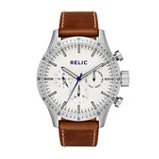 Relic Mens Brown Strap Watch-Zr15891