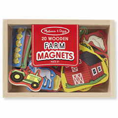Melissa & Doug® Wooden Farm Magnets
