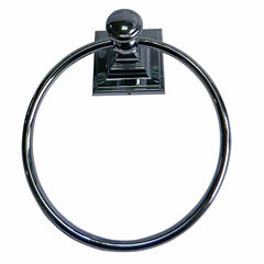 Elegant Square Wall Mount Towel Ring