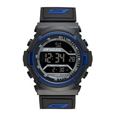 Skechers® Performance Mens Sport Digital Chronograph Watch with Negative Display