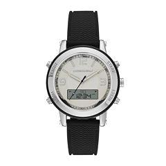 Skechers® Womens Black Silicone Strap Analog/Digital Chronograph Watch