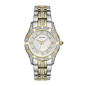Bulova® Womens Crystal 2-Tone Watch 98L135
