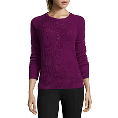 Stylus™ Long-Sleeve Textured Cable Sweater