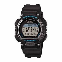 Casio Table Womens Black Strap Watch-Stls300h1apb