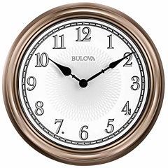 Bulova White Wall Clock-C4826