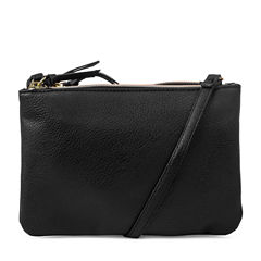 City Streets Triple Zip Crossbody Bag