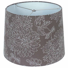Embroidered Linen Shade