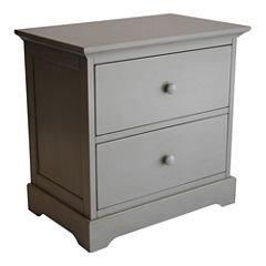 Muniré Furniture Chesapeake Nightstand - Light Gray