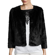 Worthington® Cropped Faux-Fur Jacket - Tall