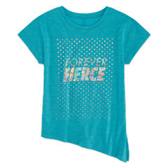 Xersion Short Sleeve Side Tie Graphic Tee - Girls' 7-16 and Plus