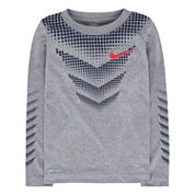 Nike Chevron Dot Long-Sleeve Dri-Fit Top - Boys 4-7