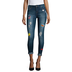 Vanilla Star Do It Yourself Patch Skinny Jeans-Juniors
