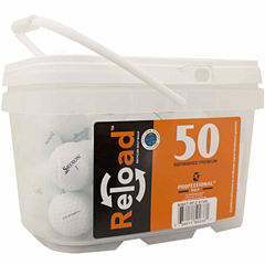 50 pack Srixon ZStar Refinished Golf Balls in a reusable plastic bucket with handle.