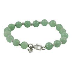 Sterling Silver Jade Bead Bracelet