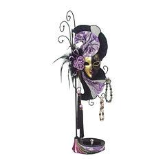 Mardi Gras Mask Purple & Black Jewelry Stand Organizer